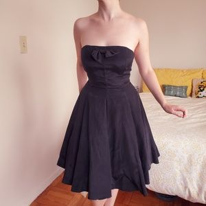 Vintage 50s Tulle Circle Pleat Strapless Party